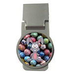Easter Egg Bunny Treasure Money Clip (Round)