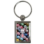 Easter Egg Bunny Treasure Key Chain (Rectangle)