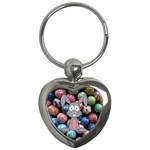 Easter Egg Bunny Treasure Key Chain (Heart)