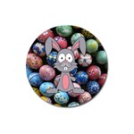 Easter Egg Bunny Treasure Magnet 3  (Round)