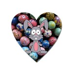 Easter Egg Bunny Treasure Magnet (Heart)