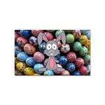 Easter Egg Bunny Treasure Sticker 100 Pack (Rectangle)