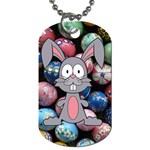Easter Egg Bunny Treasure Dog Tag (Two-sided)
