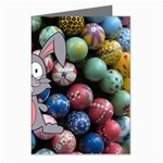 Easter Egg Bunny Treasure Greeting Card (8 Pack)
