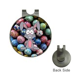 Easter Egg Bunny Treasure Hat Clip with Golf Ball Marker