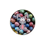 Easter Egg Bunny Treasure Golf Ball Marker (for Hat Clip)