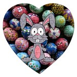 Easter Egg Bunny Treasure Jigsaw Puzzle (Heart)