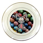Easter Egg Bunny Treasure Porcelain Display Plate