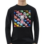 Easter Egg Bunny Treasure Men s Long Sleeve T-shirt (Dark Colored)