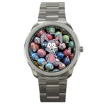 Easter Egg Bunny Treasure Sport Metal Watch