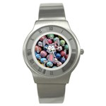 Easter Egg Bunny Treasure Stainless Steel Watch (Slim)