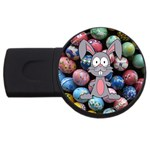 Easter Egg Bunny Treasure 4GB USB Flash Drive (Round)