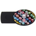 Easter Egg Bunny Treasure 4GB USB Flash Drive (Oval)