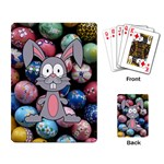 Easter Egg Bunny Treasure Playing Cards Single Design