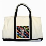 Easter Egg Bunny Treasure Two Toned Tote Bag