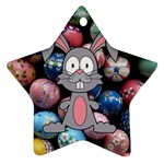 Easter Egg Bunny Treasure Star Ornament (Two Sides)