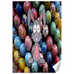 Easter Egg Bunny Treasure Canvas 12  x 18  (Unframed)