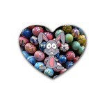 Easter Egg Bunny Treasure Drink Coasters 4 Pack (Heart)
