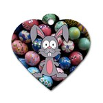 Easter Egg Bunny Treasure Dog Tag Heart (One Sided)