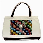 Easter Egg Bunny Treasure Twin-sided Black Tote Bag