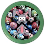 Easter Egg Bunny Treasure Wall Clock (Color)
