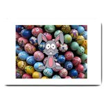 Easter Egg Bunny Treasure Large Door Mat