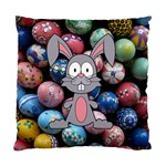 Easter Egg Bunny Treasure Cushion Case (Single Sided)