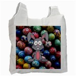 Easter Egg Bunny Treasure White Reusable Bag (One Side)
