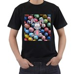 Easter Egg Bunny Treasure Men s T-shirt (Black)