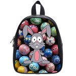 Easter Egg Bunny Treasure School Bag (Small)