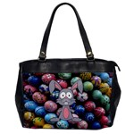 Easter Egg Bunny Treasure Oversize Office Handbag (One Side)