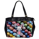 Easter Egg Bunny Treasure Oversize Office Handbag (Two Sides)