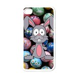 Easter Egg Bunny Treasure Apple iPhone 4 Case (White)