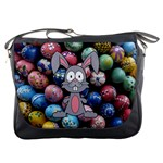 Easter Egg Bunny Treasure Messenger Bag