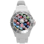 Easter Egg Bunny Treasure Plastic Sport Watch (Large)