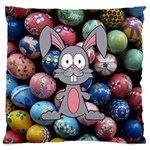 Easter Egg Bunny Treasure Large Cushion Case (Single Sided)