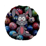 Easter Egg Bunny Treasure 15  Premium Round Cushion