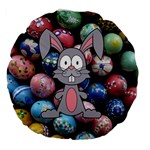 Easter Egg Bunny Treasure 18  Premium Round Cushion