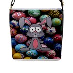 Easter Egg Bunny Treasure Flap Closure Messenger Bag (Large)