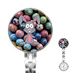 Easter Egg Bunny Treasure Stainless Steel Nurses Watch