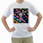 Easter Egg Bunny Treasure Men s T-Shirt (White)