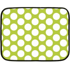 Spring Green Polkadot Mini Fleece Blanket (Two Sided) from ArtsNow.com 35 x27  Blanket Front