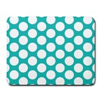 Turquoise Polkadot Pattern Small Mouse Pad (Rectangle)