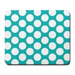 Turquoise Polkadot Pattern Large Mouse Pad (Rectangle)