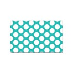 Turquoise Polkadot Pattern Sticker (Rectangle)