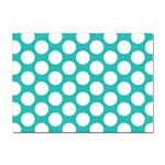 Turquoise Polkadot Pattern A4 Sticker 10 Pack