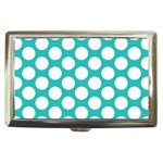 Turquoise Polkadot Pattern Cigarette Money Case