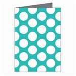 Turquoise Polkadot Pattern Greeting Card