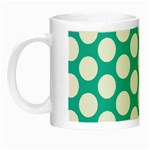 Turquoise Polkadot Pattern Glow in the Dark Mug