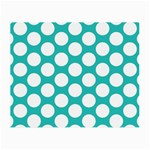 Turquoise Polkadot Pattern Glasses Cloth (Small)